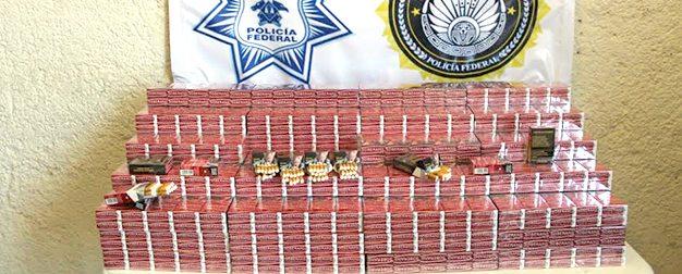 Decomisan mil cajetillas de cigarrillos en el aeropuerto de SLP