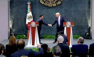 Proteger a los mexicanos, prioridad, señala Peña Nieto a Trump en Los Pinos
