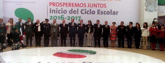 """El gobernador Juan Manuel Carreras encabezó el inicio del periodo escolar en la escuela """"Profesor Rafael Turrubiartes Macías"""