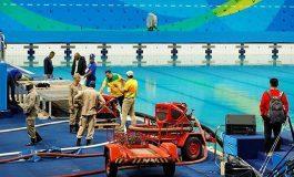 Quejas por elementos químicos en piscina olímpica