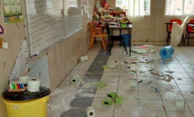Causó daños al interior de un plantel educativo