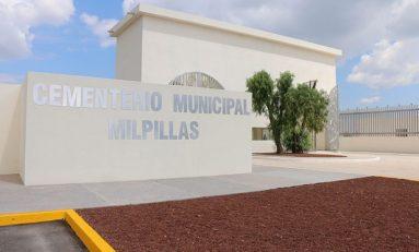 Panteón de Milpillas lleva avance del 90%
