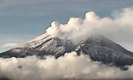 Registra el Popocatépetl 186 exhalaciones de baja intensidad