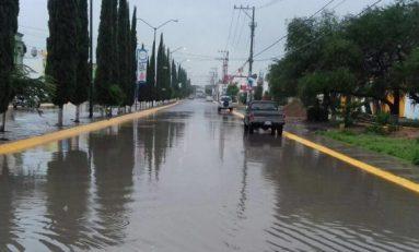 Varias colonias afectadas por las lluvias en Soledad