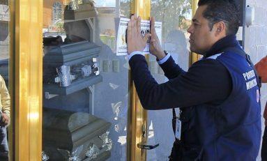 Clausuran funeraria por incumplir medidas de seguridad