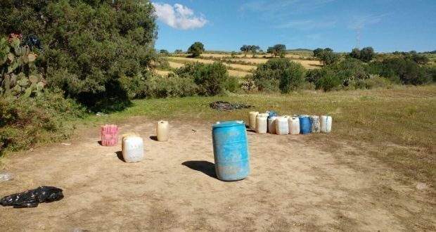 Aseguran mil 200 litros de hidrocarburo en Ébano