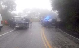 Militares lesionados al chocar con una camioneta en Tamazunchale