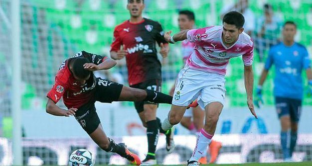 Santos y Atlas reparten puntos; 2-2