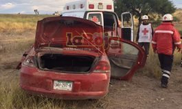 Volcadura deja 5 lesionados en carretera a Matehuala
