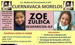 Llevan búsqueda de Zoé a otras partes del país