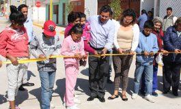 Ayuntamiento de SLP entrega pavimentación en calle Rayo