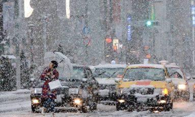 Insólita nevada, en noviembre, sorprende a Tokio