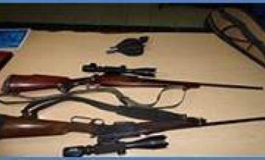 Aseguran estatales armas de fuego con mira telescópica en Rioverde