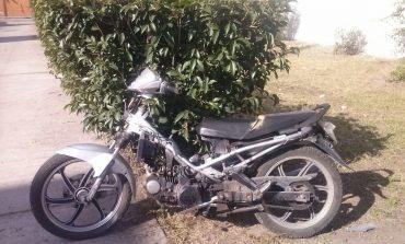 Localizan motocicleta con reporte de robo en la Julián Carrillo