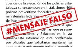 Falsos mensajes que circulan por redes sociales y whatsapp: SSPE