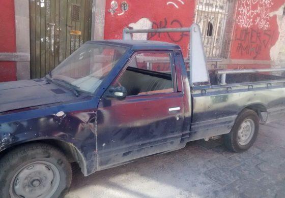 Recuperan en Zona Centro Camioneta Robada en Soledad
