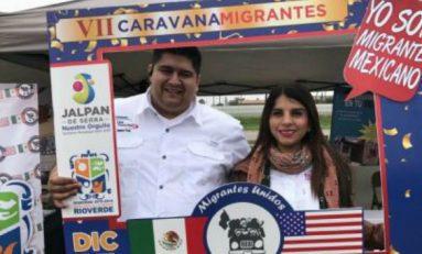 Gobernadores dan banderazo a caravana de paisanos
