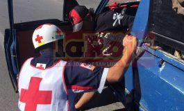 Velocidad inmoderada causa choque en carretera a Matehuala