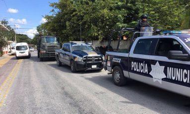 Operativo de seguridad y vigilancia en Moctezuma por reporte de civiles armados