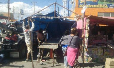DSPM realizó ordenamiento vial a tianguistas del Rastro Municipal