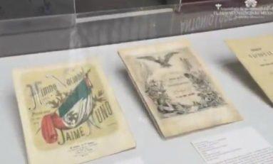 Exhiben partitura que dio origen a Himno Nacional