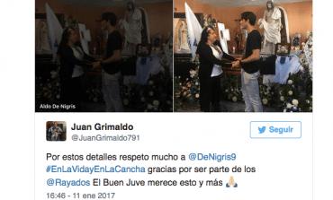 Aldo De Nigris acudió al funeral de aficionado rayado