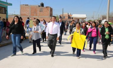 El alcalde RGJ entrega nuevas pavimentaciones en la zona norte