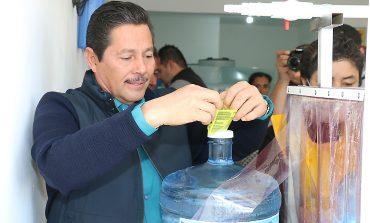 Ricardo Gallardo inaugura purificadora en Tierra Blanca