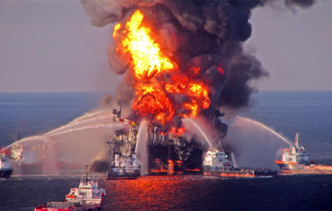 Incendio en Plataforma Petrolera Frente a las Costas de Lousiana