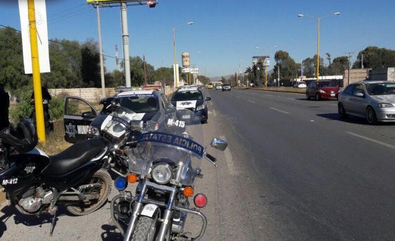 "Municipales Frustran Robo por ""Boquetazo"" en Carretera a Matehuala"