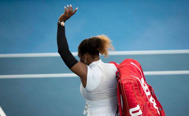 Serena Williams cae y es eliminada del Abierto de Auckland