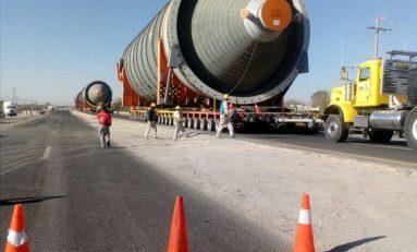 Desmontan Puente Peatonal en Carretera a Matehuala por Paso de Calderas