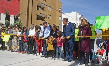 Inaugura Ricardo Gallardo pavimentaciones en colonia la Libertad