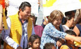 El alcalde Ricardo Gallardo inaugura pavimentaciones en la colonia las Flores