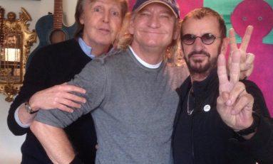 Paul McCartney y Ringo Starr graban en sesión de estudio