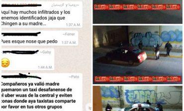 Vehículo UBER es Sujeto de Agresiones en Valentín Amador