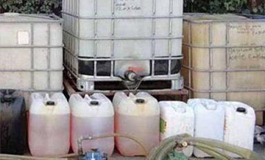 Aseguran 480 litros de combustible abandono en Tamuin