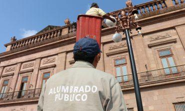Monitoreo constante en alumbrado público de Centro Histórico
