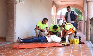 Realiza ayuntamiento simulacro de evacuación en Villa de Pozos