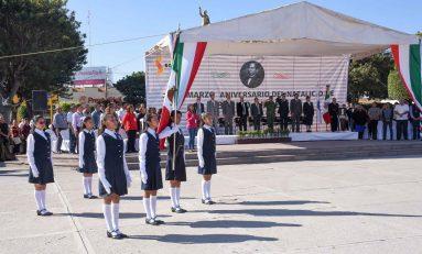 Realiza Alcalde Soledense Acto Cívico por Aniversario del Natalicio de Benito Juárez