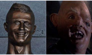 Bromas y memes desató busto de Cristiano Ronaldo