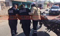 Choca Policía Municipal en Motocicleta