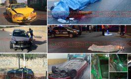 En tres días, ocho accidentes provocados por mujeres; en uno de ellos muere una motociclista