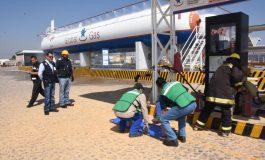Realizan Simulacro en Estación de Carburación de Gas LP en Soledad