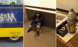 Sujeto detenido por grafitear un vehículo