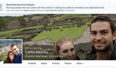 Facebook rinde homenaje a víctimas de choque en Reforma