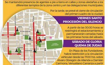 Anuncian cierres viales en Centro Histórico por eventos religiosos