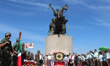 Rindieron honores al caudillo revolucionario, Emiliano Zapata, en su Aniversario Luctuoso