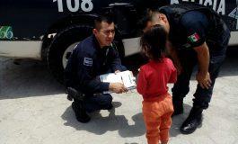 Municipales localizan a menor extraviada en lateral de Carretera a Matehuala
