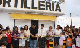 Ricardo Gallardo inaugura tortillería subsidiada en la colonia las Flores